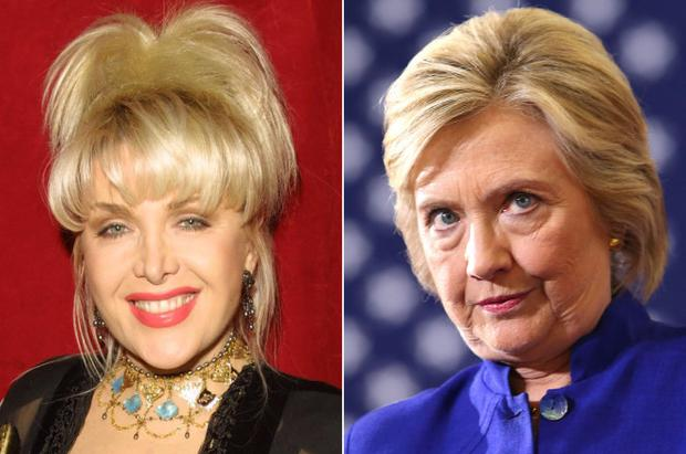 Gennifer Flowers and Hillary Clinton