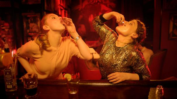 (L to R) Seana Kerslake and Nika McGuigan in RTE Two dramedy Can't Cope Won't Cope