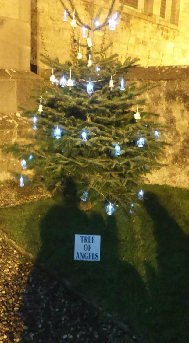'Tree of angels' is set up at St Maelruain's church in Tallaght