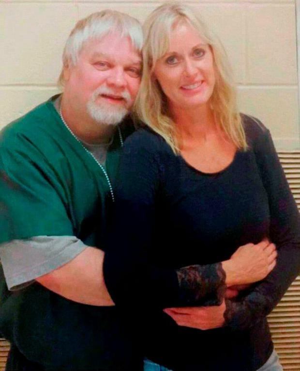 Steven Avery and fiancée Lynn Hartman. Picture: Avery Dassey Project/Facebook