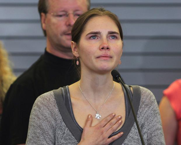Amanda Knox during her first murder trial