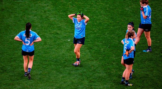 Dublin players dejected
