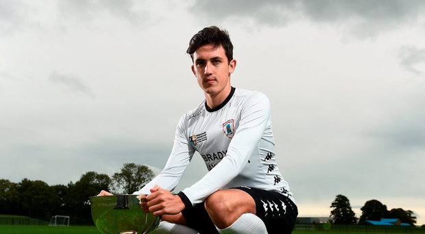 Jamie McGrath, pictured at the launch of the FAI Third Level Season, has benefitted from Pat's partnership with NUI Maynooth. Photo: Sportsfile
