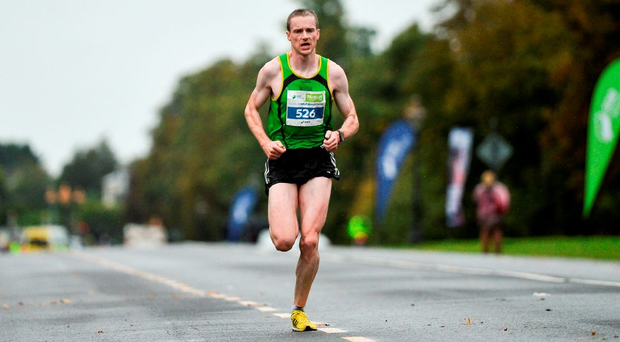 Sean Hehir on his way to winning the SSE Airtricity Race Half Marathon. Photo by Sam Barnes/Sportsfile