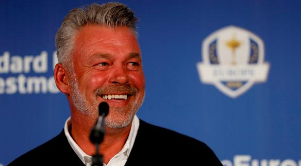 The serious business of the Ryder Cup starts today for Darren Clarke. Photo by Andrew Redington/Getty Images