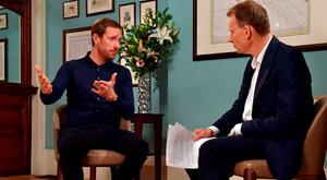 Bradley Wiggins speaks during an interview with Andrew Marr which was broadcast yesterday morning. Photo credit: Jeff Overs/BBC/PA Wire.