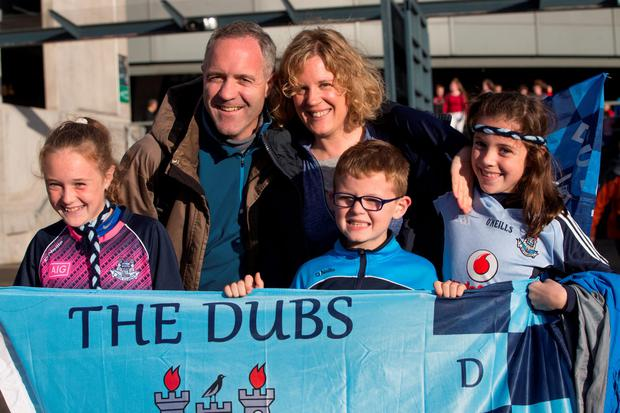 Kevin Pendergast with his wife Fiona McKenna and children Rebecca (11), Leah (10) and Shane (8). Photo: Fergal Phillips
