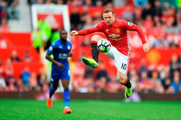 Rooney was brought on in the 83rd minute. Photo: Getty