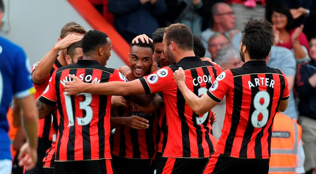 Bournemouth's Junior Stanislas celebrates his goal. Photo: Getty