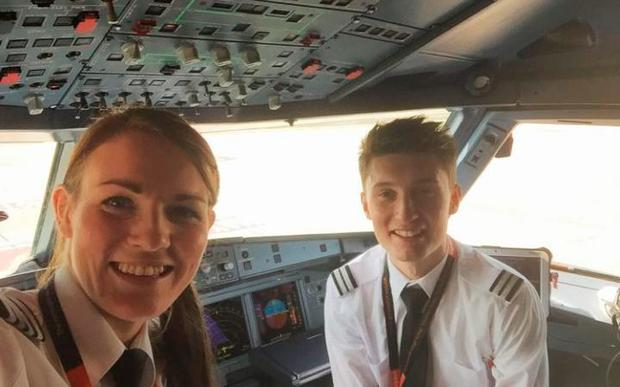 Miss McWilliams flew last week from Gatwick to Malta alongside Luke Elsworth, who earlier this year became the UK's youngest pilot at 19 years old Credit: PA