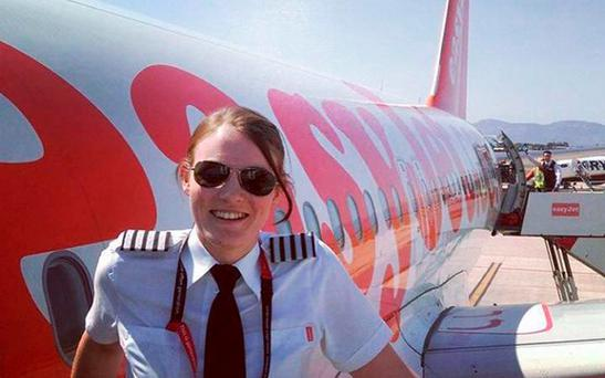 Kate McWilliams, originally from Carlisle, says she gets quizzed about her age by cabin crew and passengers almost every day Credit: PA