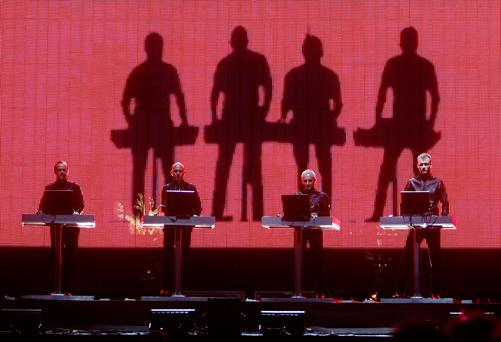 Electronic-pop band Kraftwerk. (Photo by Kevin Winter/Getty Images)