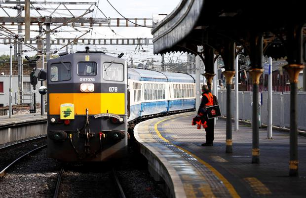 The Emerald Isle Express in Connolly Station, Dublin. Photo: Sasko Lazarov/Photocall Ireland
