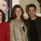(L-R) Actors Sean Hayes, Megan Mullally, Debra Messing and Eric McCormack, September 15, 2004 in New York City. (Photo by Peter Kramer/Getty Images)