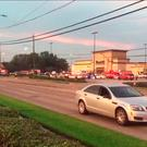This video frame grab obtained September 26, 2016 courtesy of KHOU TV in Houston,Texas shows emergency vehicles at the scene of a shooting.HO/AFP/Getty Images