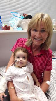 Rosemary and Baby Hannah - whom she donated part of her liver