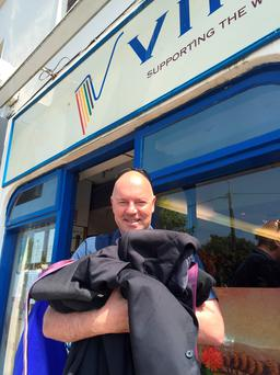 Gordon O'Neill of Goldfish Telecom donated all his suits to charity after taking a more casual approach to workwear