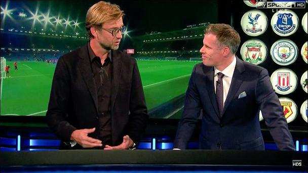 Jurgen Klopp with Jamie Carragher on MNF