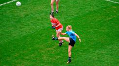 Dublin's Carla Rowe shoots for a point which was incorrectly given as a wide during Sunday's ladies football All-Ireland final Piaras Ó Mídheach/Sportsfile Photo by Piaras Ó Mídheach/Sportsfile