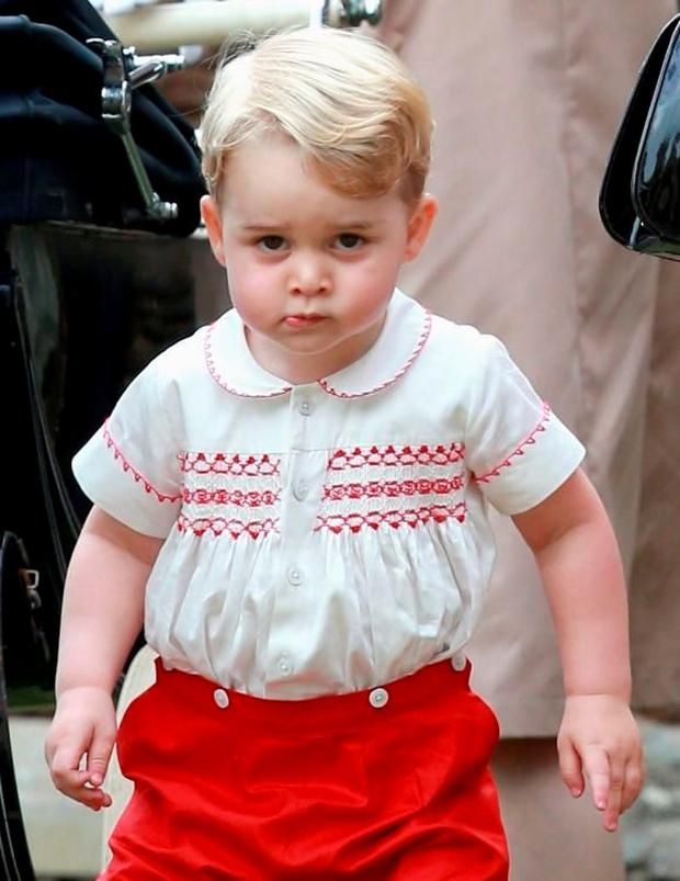 Prince George at the christening of his sister Charlotte in July 2015. Photo by Chris Jackson/Getty Images