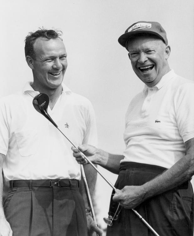 Arnold Palmer and President Dwight D. Eisenhower (Photo by Augusta National/Getty Images)