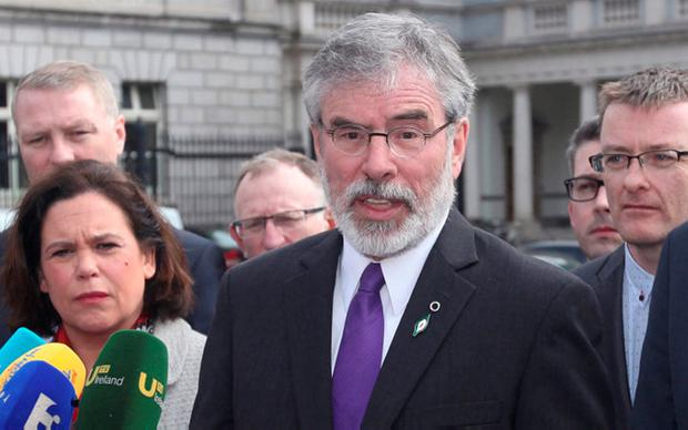 Another new Dáil term, another set of historic allegations involving Gerry Adams, and another cry from the party that they are the victims. Pic Stephen Collins/Collins Photos