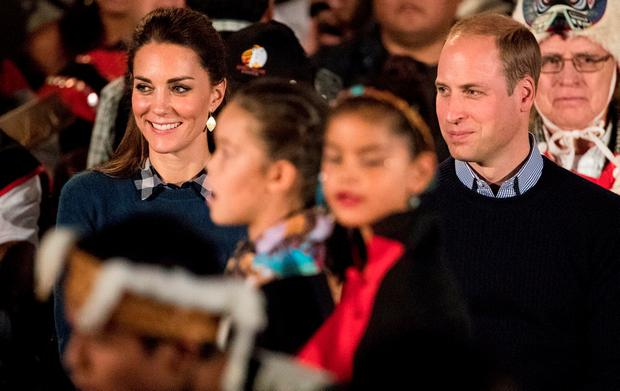 Britain's Prince William and Catherine, Duchess of Cambridge attend a cultural sharing ceremony at the Wawiskas Community Hall during their eight day royal tour to Canada in Bella Bella, British Columbia, Canada, September 26, 2016. REUTERS/Kevin Light