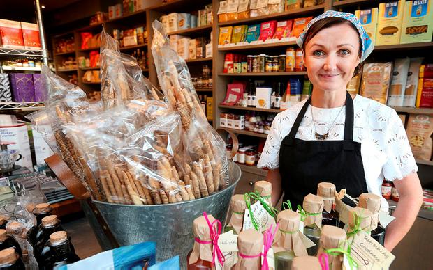 Deirdre Fahy, owner of the Olive Deli and Cafe. Photo: Steve Humphreys