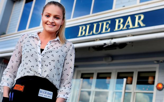 Katie Mc Dermott, manager of Blue Bar in Skerries. Photo: Steve Humphreys