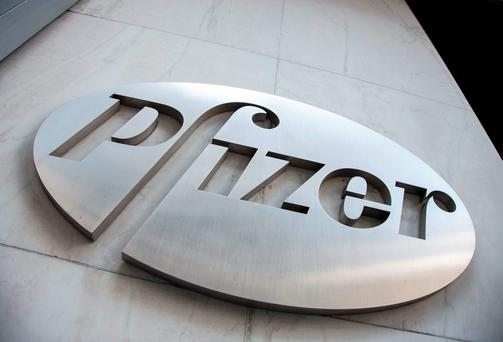 Pfizer's shares were down 1.2pc to $33.85 in pre-market trading yesterday. Photo: Reuters