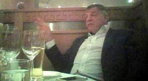 England manager Sam Allardyce filmed covertly during his meeting with fictitious Asian businessmen. Photo: Daily Telegraph ©