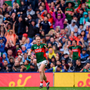 Alan Dillon of Mayo celebrates after scoring a point for his side during the GAA Football All-Ireland Senior Championship Final match between Dublin and Mayo at Croke Park