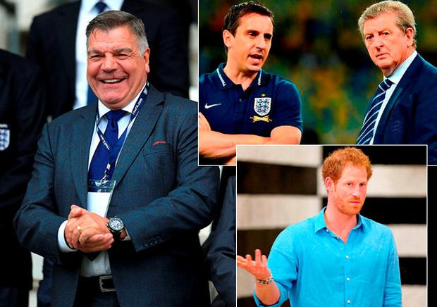 Sam Allardyce had things to say about Roy Hodgson, Gary Neville and Prince Harry