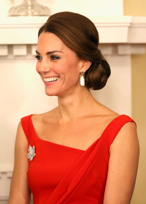 The Duchess of Cambridge attends a reception at Government House in Victoria, during the third day of their tour of Canada. PRESS ASSOCIATION Photo. Picture date: Monday September 26, 2016. Photo credit: Chris Jackson/PA Wire