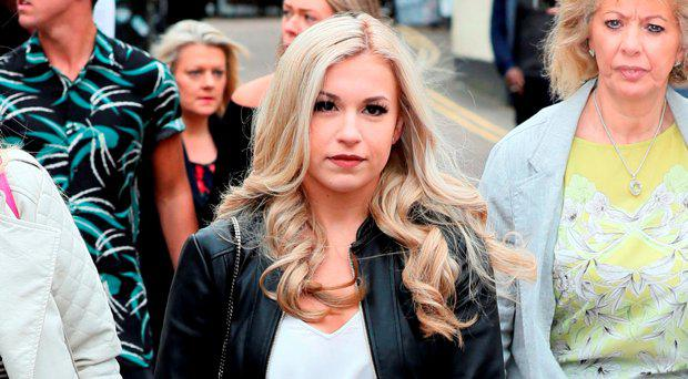 Alton Towers theme park Smiler ride accident victim Vicky Balch arrives at Stafford Crown Court