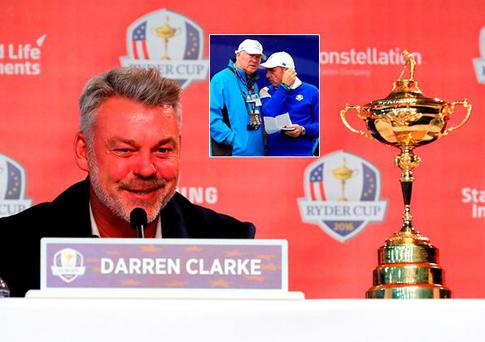 Darren Clarke has brought six data specialists to Hazeltine