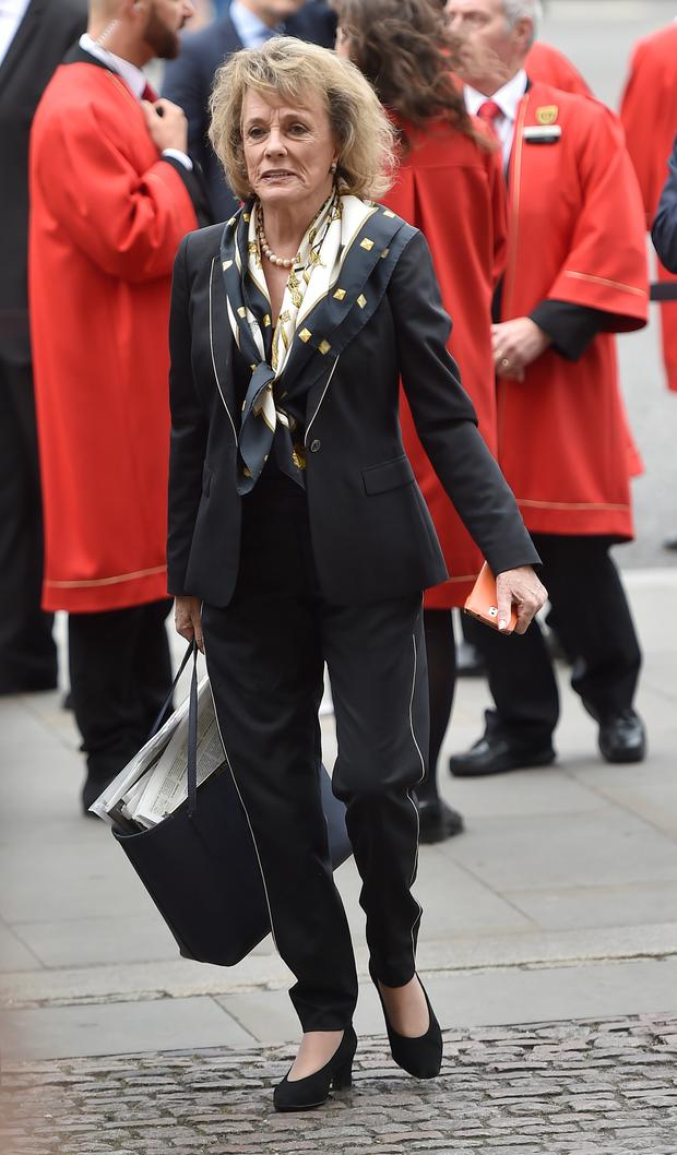 Dame Esther Rantzen arrives for the Service of Thanksgiving for Sir Terry Wogan at Westminster Abbey, London. Photo: Hannah McKay/PA Wire