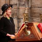 Joanna Lumley speaks during the Service of Thanksgiving for Sir Terry Wogan at Westminster Abbey, London. Photo: Yui Mok/PA Wire