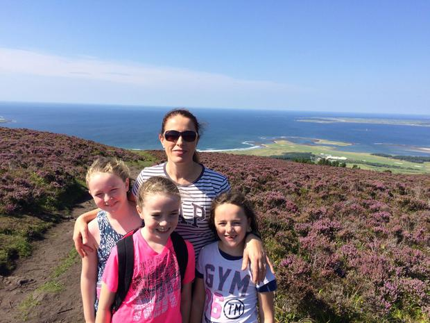 Rosaleen pictured with her children Sarah (9), Emma (8), Claire (7). The Sligo woman is also mum to Conor (3)