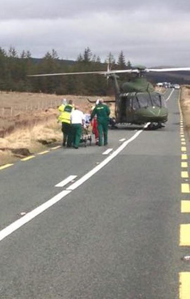The scene in Mayo where Rosaleen was airlifted after suffering a cardiac arrest