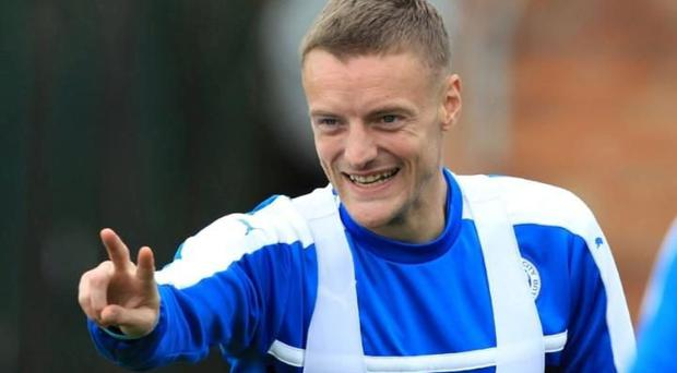 Jamie Vardy has revealed he had a very strange tipple CREDIT: GETTY IMAGES