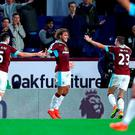 Jeff Hendrick celebrates his first Burnley goal
