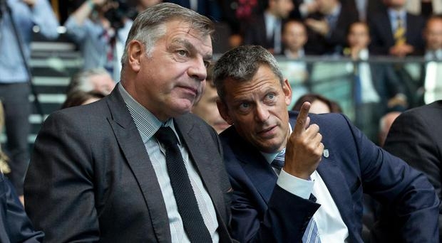 Allardyce and Glenn at Euro 2020's launch event last week Getty