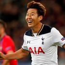 Tottenham's Son Heung-min celebrates scoring the winner