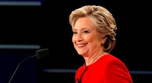 Democratic U.S. presidential nominee Hillary Clinton smiles during the first presidential debate with Republican U.S. presidential nominee Donald Trump at Hofstra University in Hempstead, New York, U.S., September 26, 2016 Picture: Reuters