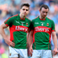 Mayo's Lee Keegan and Keith Higgins show their disappointment after last year's semi-final replay defeat to Dublin - will they be able to turn the tables when the two teams clash again at Croke Park on Saturday? Picture: Paul Mohan / SPORTSFILE