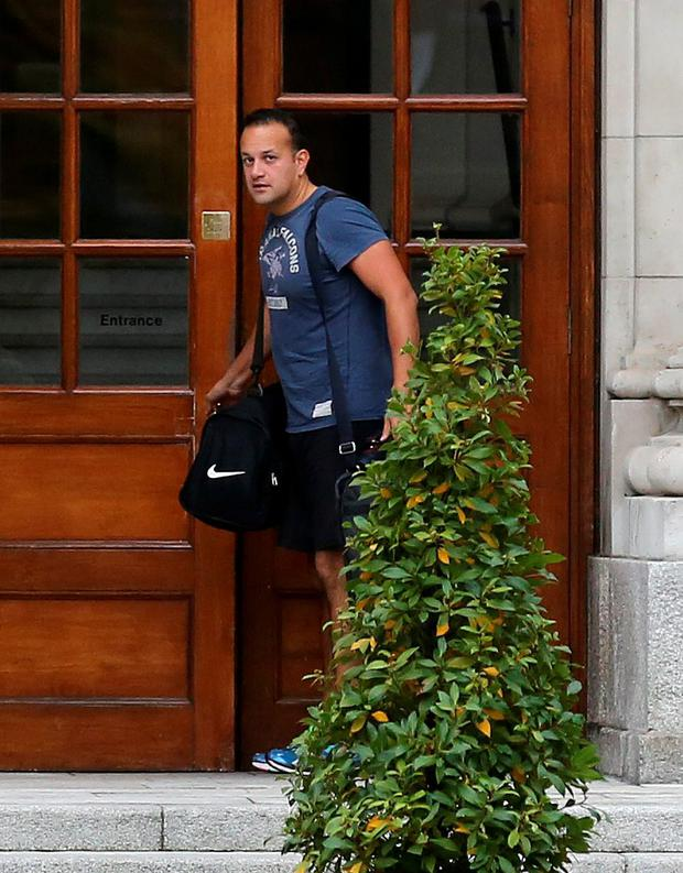 Social Protection Minister Leo Varadkar arriving for a Cabinet meeting at Leinster House yesterday. Photo: Tom Burke