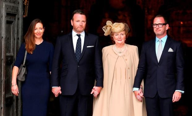 Terry's widow Helen with their children Katherine, Alan and Mark. (Photo by Tim P. Whitby/Getty Images)