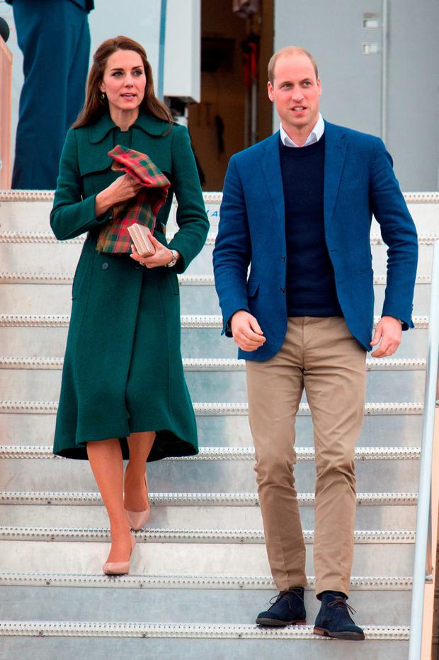 The Duke and Duchess of Cambridge arrive at Whitehorse Airport in Whitehorse, Canada, during the fourth day of the Royal Tour to Canada.