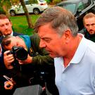 Sam Allardyce leave his home in Bolton. PRESS ASSOCIATION Photo. Picture date: Wednesday September 28, 2016. Allardyce left his role as England manager by mutual consent yesterday evening over newspaper allegations he offered advice on how to circumvent rules on player transfers. Photo credit should read: Dave Howarth/PA Wire